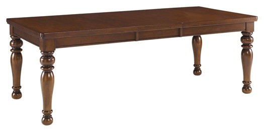 Porter Rustic Brown Rect Dining Room Ext Table D697