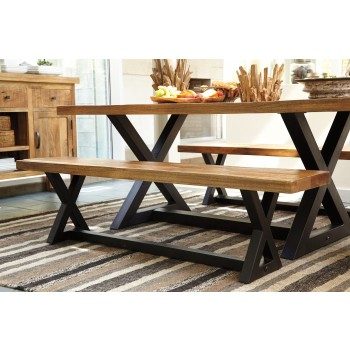 Wesling - Two-tone - Large Dining Room Bench