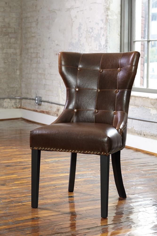 Wesling   Two Tone   Upholstered Side Chair (2/CN)