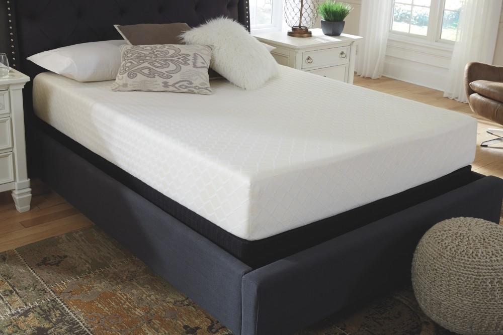 10 inch chime memory foam white full mattress m69921 memory foam mattresses i keating. Black Bedroom Furniture Sets. Home Design Ideas