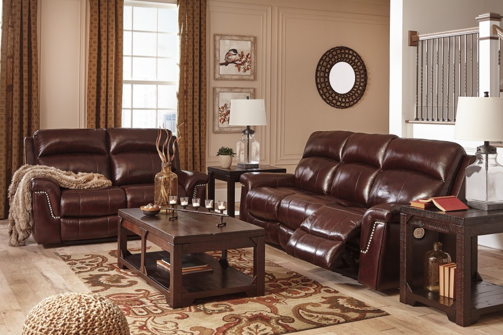 Timmons Burgundy Power Reclining Sofa Loveseat 74501 15 14