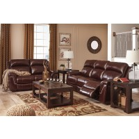 Timmons - Burgundy - Power Reclining Sofa & Loveseat