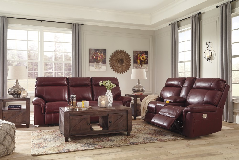 Duvic   Crimson   Power Reclining Sofa U0026 Loveseat