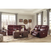 Duvic - Crimson - Power Reclining Sofa & Loveseat