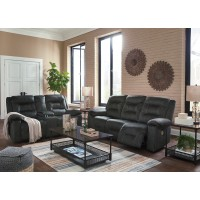 Waldheim - Gray - Power Reclining Sofa & Loveseat