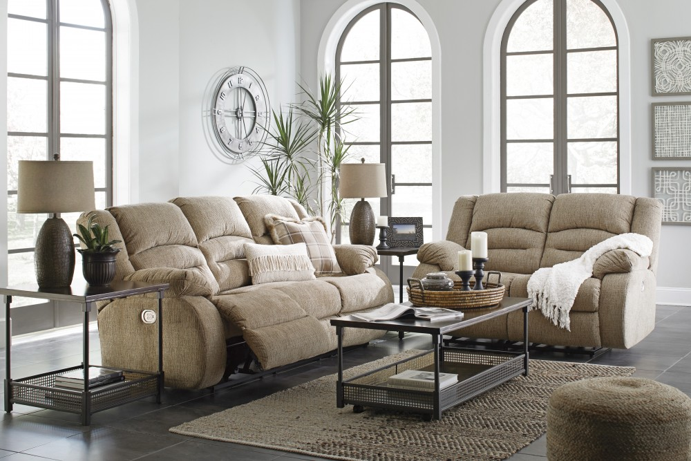 Labarre   Mocha   Power Reclining Sofa U0026 Loveseat
