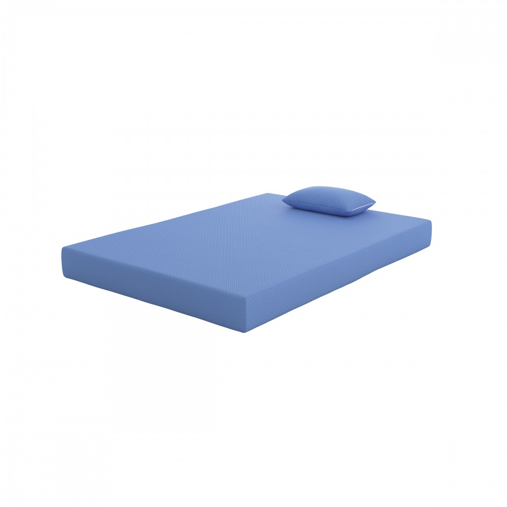IKidz Blue   Blue   Full Mattress And Pillow 2/CN