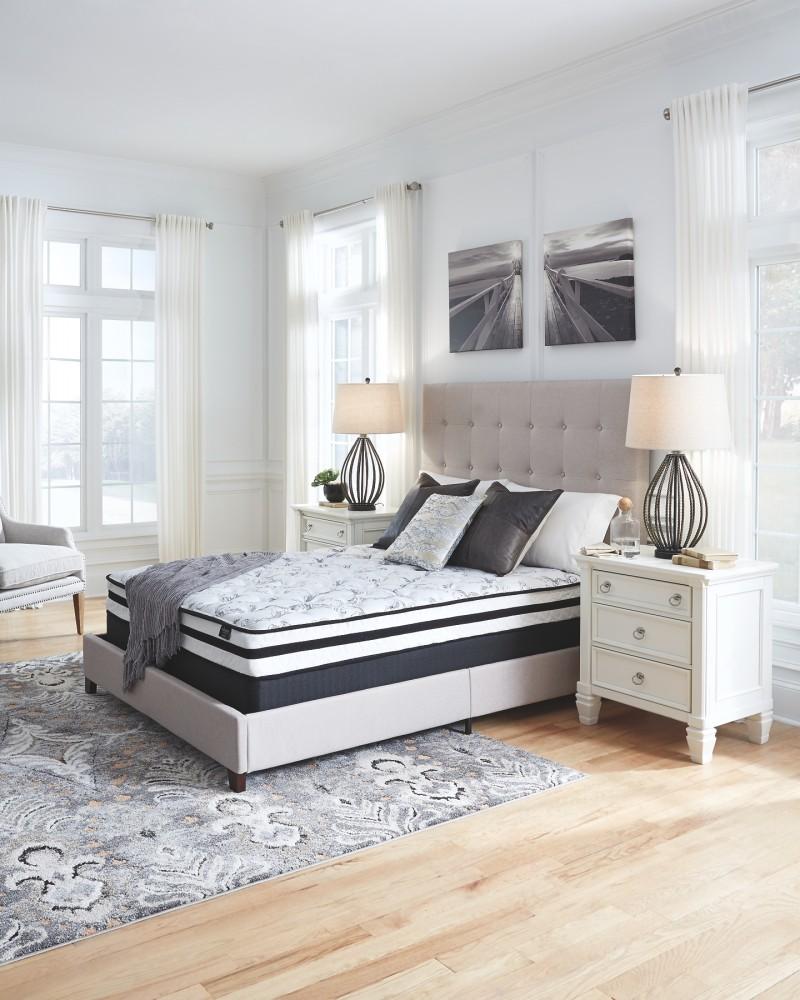 8 inch chime innerspring white twin mattress m69511 plush mattresses abe krasne home. Black Bedroom Furniture Sets. Home Design Ideas