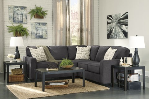 Alenya - Charcoal 2 Pc. LAF Loveseat Sectional