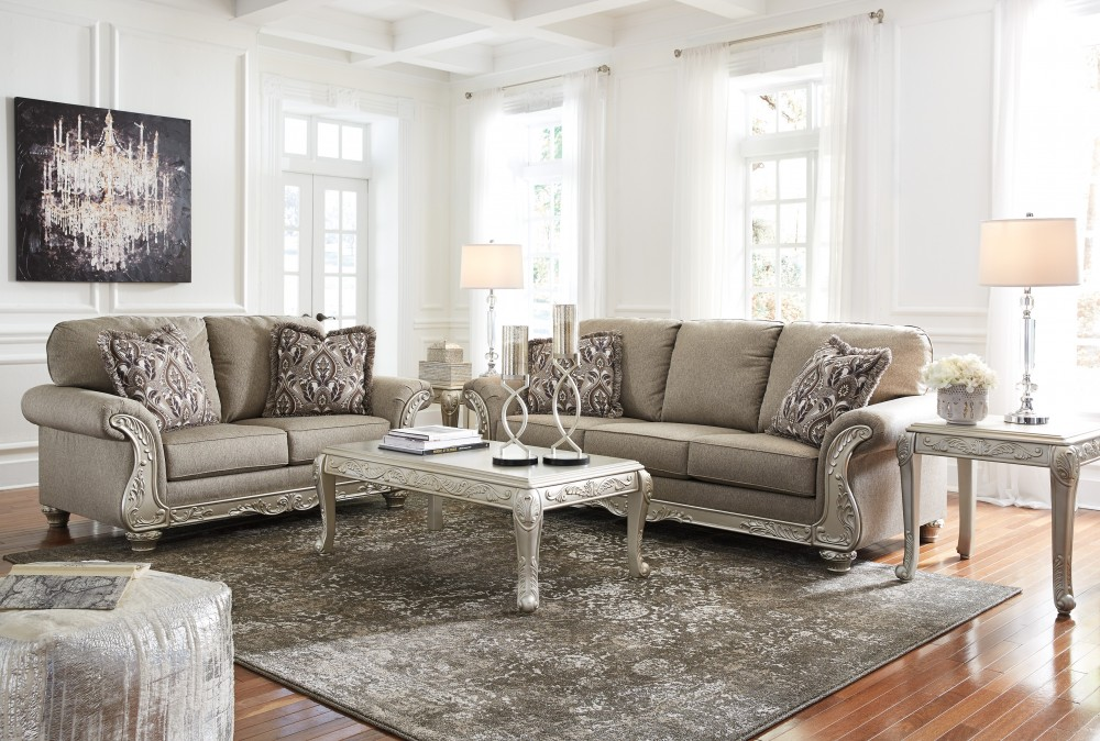 Gailian - Smoke - Sofa & Loveseat