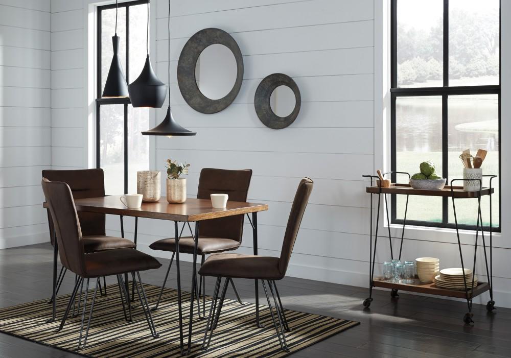 Moddano   Rectangular Dining Table U0026 4 UPH Side Chairs