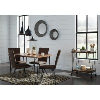 Moddano - Rectangular Dining Table & 4 UPH Side Chairs