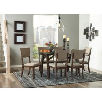 Joshton - Rectangular Dining Room Table & 6 UPH Side Chairs