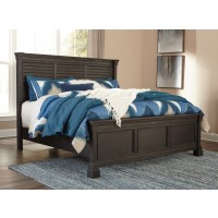Tyler Creek - King Panel Bed with Louvered Headboard