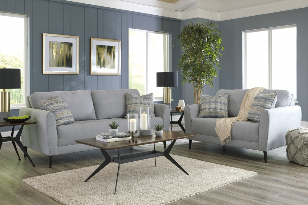 Cardello - Pewter - Sofa & Loveseat