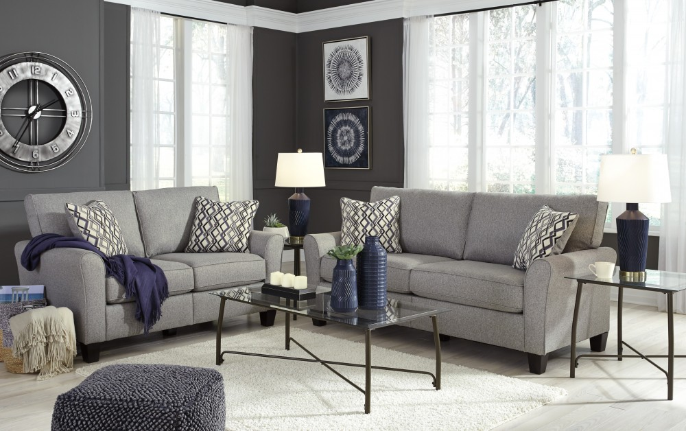 Strehela - Silver - Sofa & Loveseat