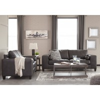 Nokomis - Charcoal - Sofa & Loveseat