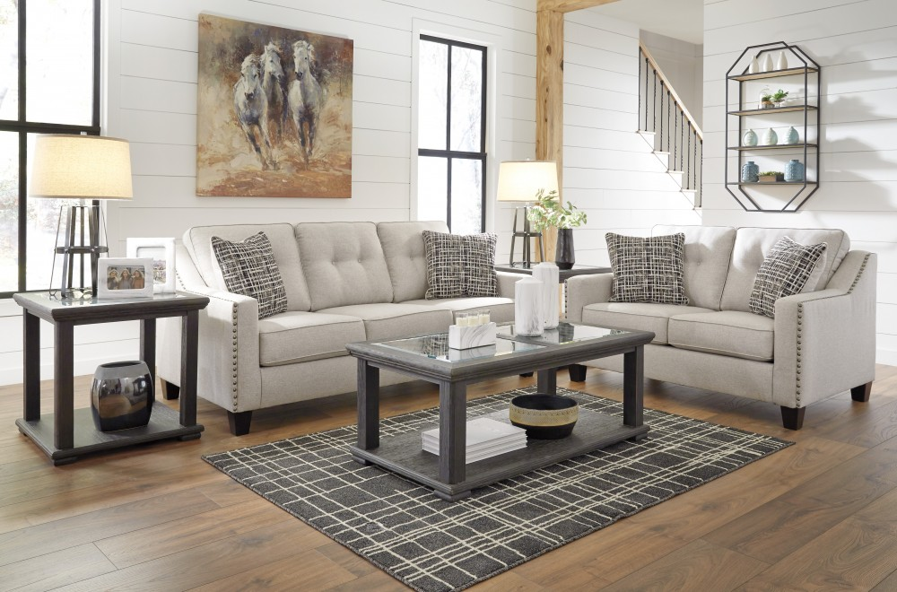 Marrero - Fog - Sofa & Loveseat