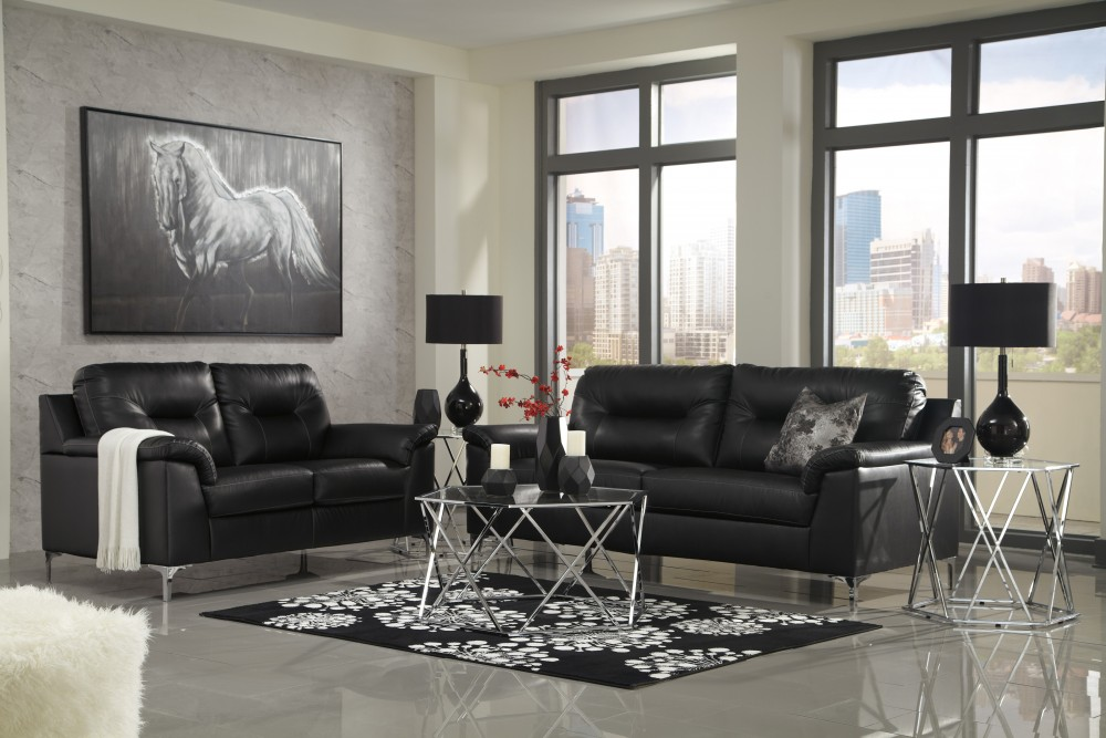 Stupendous Tensas Black Sofa Loveseat Ocoug Best Dining Table And Chair Ideas Images Ocougorg