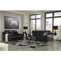 Tensas - Black - Sofa & Loveseat