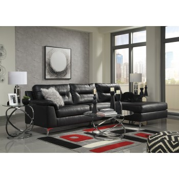 Tensas - Black 2 Pc LAF Sofa Sectional