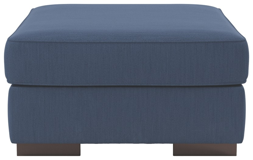Bantry Nuvella - Indigo - Oversized Accent Ottoman