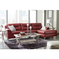 Tensas - Crimson 2 Pc RAF Corner Chaise Sectional