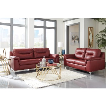 Tensas - Crimson - Sofa & Loveseat