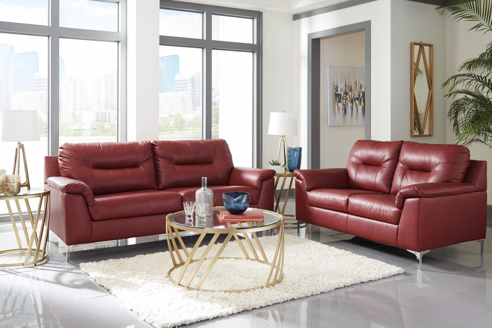 Tensas - Crimson - Sofa & Loveseat
