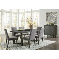 Besteneer - Rectangular Dining Room Table & 6 UPH Side Chairs
