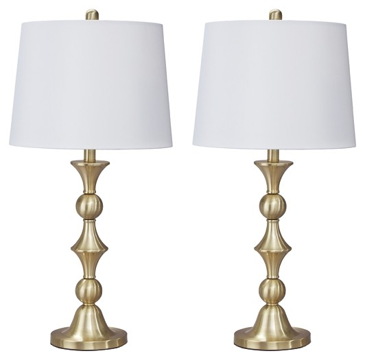 Genevieve - Antique Brass Finish - Metal Table Lamp (2/CN)