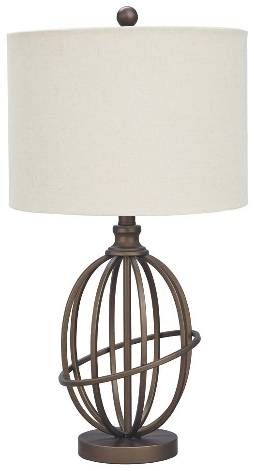 Charmant Manasa   Bronze Finish   Metal Table Lamp (1/CN)