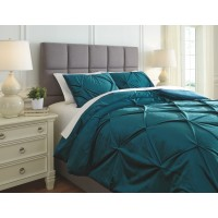 Meilyr - Blue Spruce - King Comforter Set