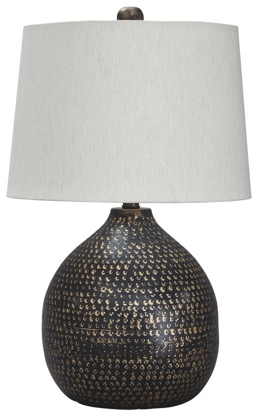 Maire   Black/Gold Finish   Metal Table Lamp (1/CN) | L207294 ...