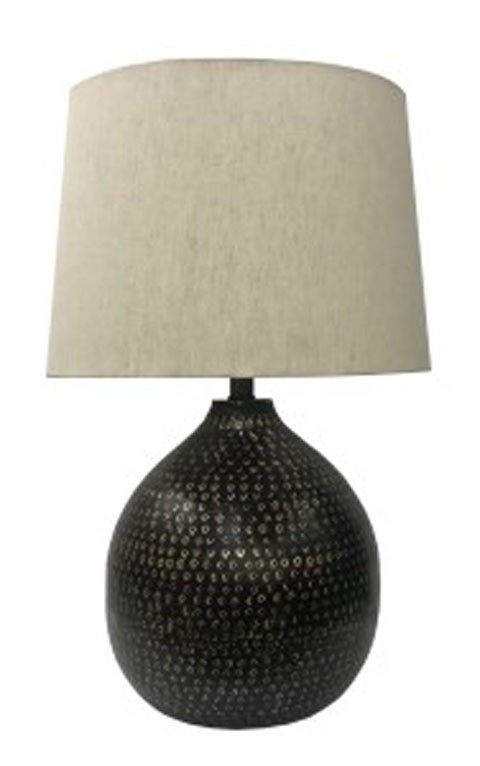 Maire blackgold finish metal table lamp 1cn l207294 maire blackgold finish metal table lamp 1cn aloadofball Gallery