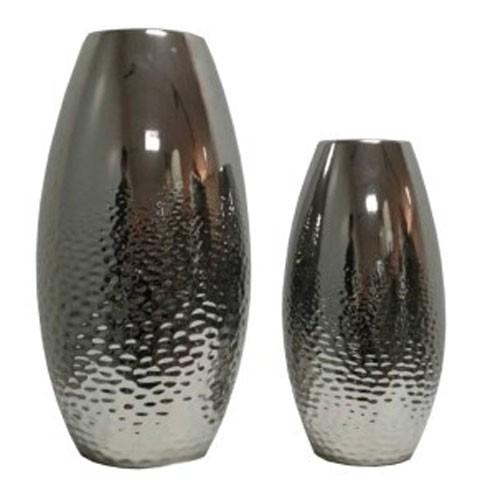 Dinesh Silver Finish Vase Set 2cn A2000355 Vases St