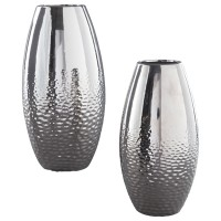 Dinesh - Silver Finish - Vase Set (2/CN)