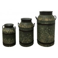 Elke - Antique Brown - Milk Can Set (3/CN)
