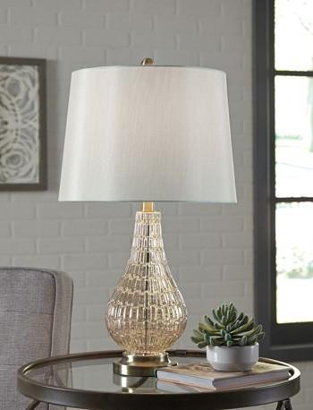 Latoya - Champagne - Glass Table Lamp (1/CN) | L430594 | Lamps ...
