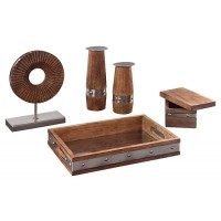 Dinh - Brown/Chrome Finish - Accessory Set (5/CN)