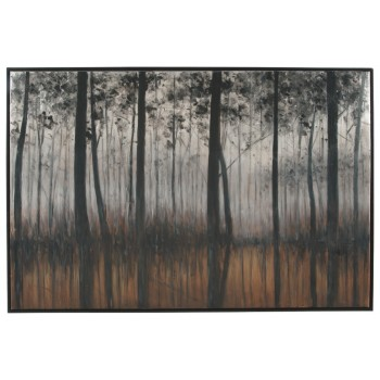 Philyra - Black/Orange/Silver - Wall Art