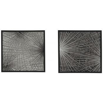 Dorinda - Black/White - Wall Art Set (2/CN)