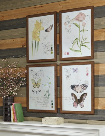 Carlisia - Multi - Wall Art Set (4/CN)   A8000255   Wall Art   Hard ...