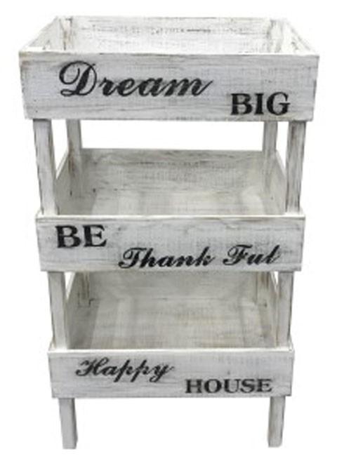 Yulton   Antique White   Storage Shelf