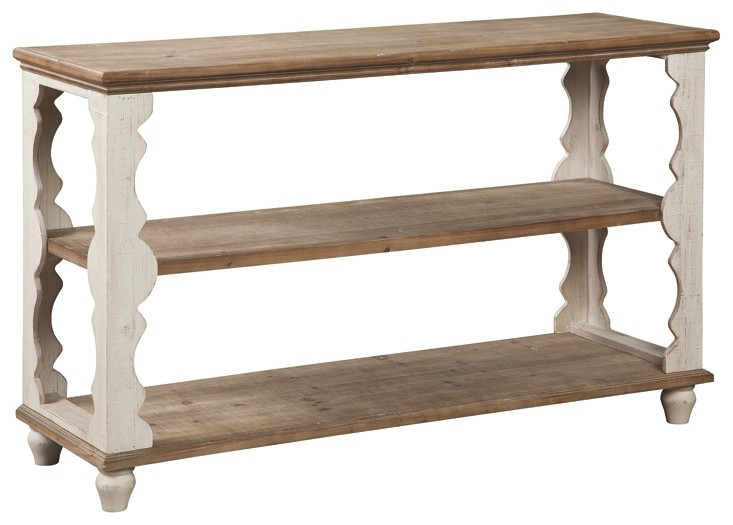 Alwyndale Antique White Brown Console Sofa Table A4000107
