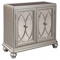 Darlyman - Silver Finish - Accent Cabinet