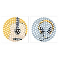 Peers - Blue/Yellow - Wall Art Set (2/CN)