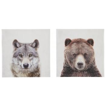 Albert - Gray/Brown - Wall Art Set (2/CN)