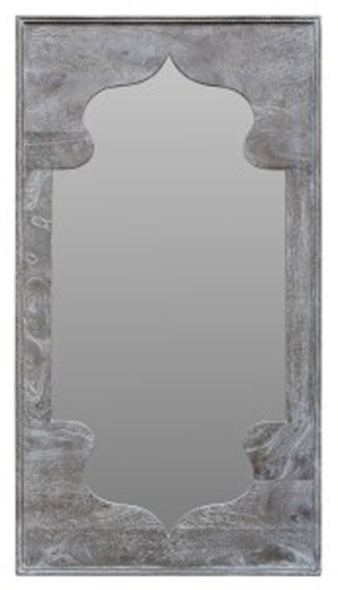bautista antique gray accent mirror a8010156 mirrors