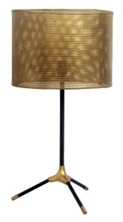 Mance   Gray/Brass Finish   Metal Table Lamp (1/CN)